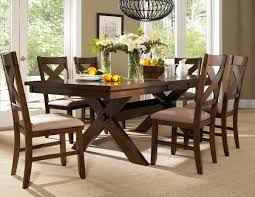 Round Dining Room Set For 6 by Amazon Com Roundhill Furniture Karven 7 Piece Solid Wood Dining