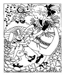 Dancing With Leprechauns Coloring Page