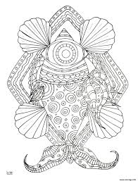Coloriage Unicorn Fish With Tribal Pattern Adulte JeColoriecom
