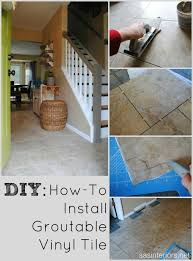 installing luxury vinyl tile that can be grouted the result looks