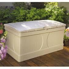 suncast 99 gallon light taupe resin deck box db9000 walmart com