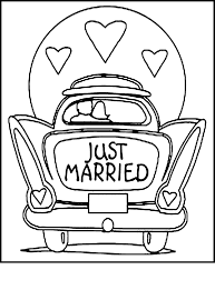 Coloring Pages Wedding At