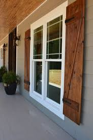 Front Porch With Custom Ceiling Cedar Posts Stone Columns And Wood Shutters Rustic ShuttersHouse