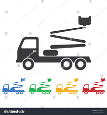 Truck Crane Icon Construction Tools Icons Stock Vector 524858875 ...