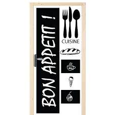 sticker porte cuisine autocollant pour porte cuisine bon appé