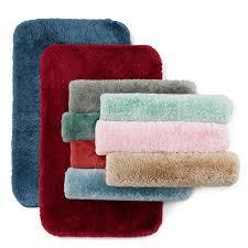 Red Bathroom Mat Set by 100 Quatrefoil Bath Rug Tivoli Embroidered Turkish Cotton