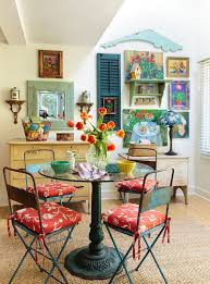 Colorful Dining Room Filled With Snazzy Flea Market