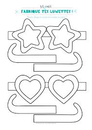 Lunettes à Imprimer Et à Colorier Momesnet