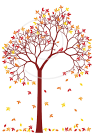 Autumn tree with colorful leaves and birds digital clip art clipart clip art fall seasonal print printable vector instant