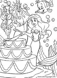 Disney Ariel Happy Birthday Free6115 Coloring Pages Print Download