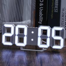 3d led digitale wanduhr tabelle zeit wecker nachtlicht
