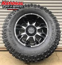 100 Gear Truck Wheels 20X12 Alloy Type 742BM Kickstand Mounted Up To A 38X1550R20