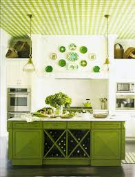 KitchenGorgeous Lime Green Galley Kitchen With Repainted Cabinets And White Solid Countertop Appealing