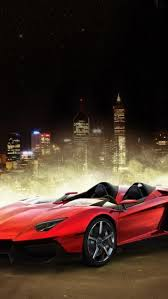 Red Two Door Sports Car Wallpaper Free iPhone Wallpapers