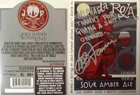 Jolly Pumpkin Artisan Ales Bam Biere by Daily Beer Review Jolly Pumpkin Labels Signed By Artist Adam