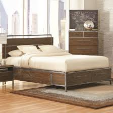 coleman bed arcadia weathered acacia platform storage bed from coaster