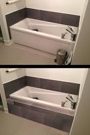how to make tiled shelf on front of bathtub kitchen bath