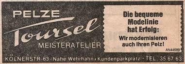 file pelze toursel düsseldorf anzeige 1984 jpg wikimedia commons