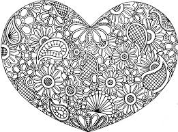 Hearts Flower Abstract Doodle Zentangle Paisley Coloring Pages Colouring Adult Detailed Advanced Printable Kleuren Voor Volwassenen