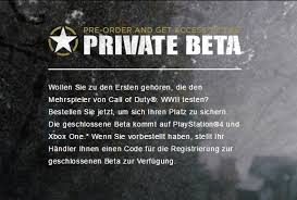 si e pc beta is only for xbox one and playstation 4 not pc wwii