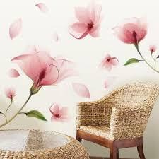 dekoration wandtattoo schlafzimmer wohnzimmer blumenranke