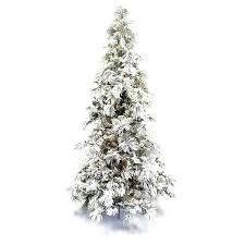 Flocked Tree Green White Foot Faux Pine Long Needle Lit