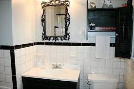 retro black white bathrooms lost in
