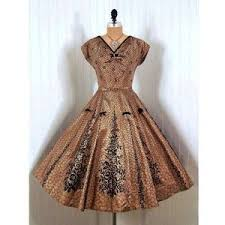 Tumblr Brown Vintage Dress