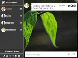RumbleTalk line group chat room for websites