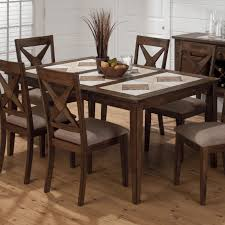 Tucson Casual Brown Wood Tri Color Tile Top Dining Table Click To Enlarge