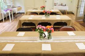Bridal Shower Centerpiece With Vases And Flowers