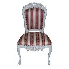 chaise de style 4 chaises style rococo en acajou massif blanc meuble de style