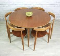 Vintage Hans Wegner For Fritz Hansen Heart Danish Dining Table 6 Tripod Chairs
