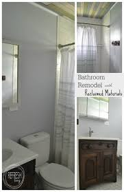 Ceiling Materials For Bathroom by Bathroom Remodel On A Budget With Reclaimed Materials Refresh Living
