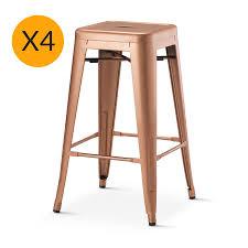 Tolix Chair Cushion Melbourne by Tolix X4 Replica Xavier Pauchard Stool 65cm New Copper U2013 Black