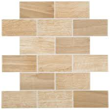 Daltile Parkwood Beige 12 in x 12 in x 6 mm Ceramic Brick Joint