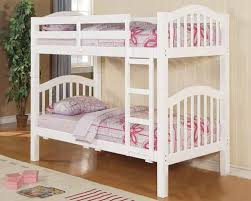 furniture twin over twin bunk bed in white ac02354