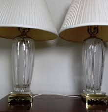 Square Crystal Lamp Finials by Pair Of Crystal Table Lamps Made In Hungary Ebth