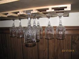 Under Cabinet Stemware Rack by Amazon Com 18 Wine Glass Stemware Holder 9