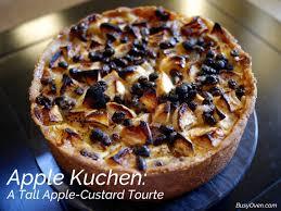 apple kuchen a apple custard tourte busyoven