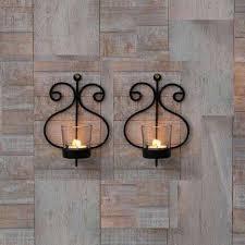 craftvatika set of 2 iron wall candle holder sconces