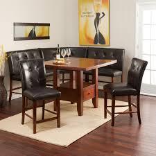 Corner Kitchen Table Set With Storage by Breakfast Nook 3 Piece Corner Dining Set Espresso Corner Nook