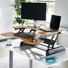 varidesk pro plus 36 standing desk butcher block