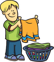 Girl Putting On Clothes Clipart