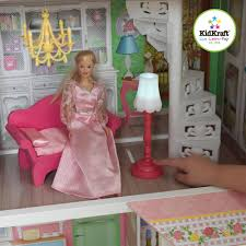 Barbie Living Room Set by Kidkraft Sweet Savannah Wooden Dollhouse With 13 Pieces Of