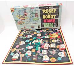 VINTAGE 1962 TRANSOGRAM JETSONS ROSEY THE ROBOT BOARD GAME