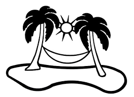 Palm Tree And Hammock Clipart