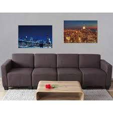 2x led bild leinwandbild leuchtbild wandbild 40x60cm timer skyline new york