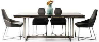 casa padrino luxus esszimmer set schwarz grau silber 1 esszimmertisch 6 esszimmerstühle luxus esszimmer möbel barockgroßhandel de