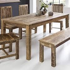 finebuy esszimmertisch fb45592 braun 120 x 76 x 70 cm mango massivholz design landhaus esstisch massiv tisch für esszimmer rechteckig